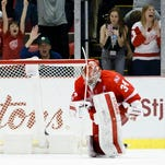 Petr Mrazek, Red Wings' next challenge: Defending champion Penguins