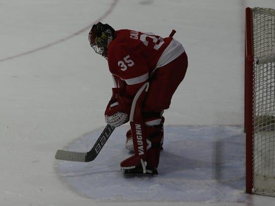 Cornell goaltender Matthew Galajda is one of three