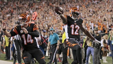 Cincinnati Bengals wide receiver Mohamed Sanu has contributed to the offense this year, but not as much as the year before.