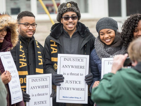 Dozens gathered for the annual Martin Luther King Jr.