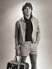 Jimmy Sinclair in a 1983 photo modeling summer fashions