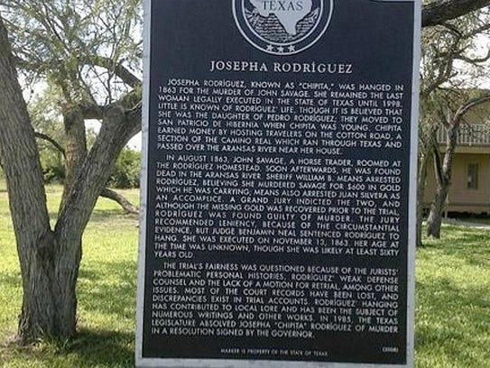 A historical marker in San Patricio commemorates the