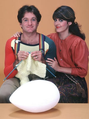 """Robin Williams and Pam Dawber starred in the sitcom """"Mork & Mindy."""""""