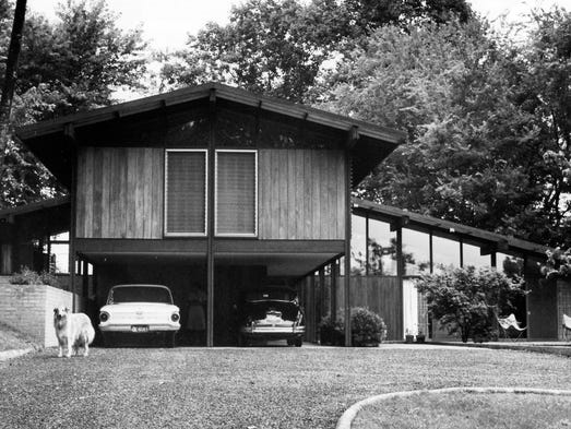 Bruce McCarty's home in 1961.