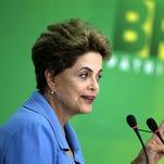 Brazilian President Dilma Rousseff speaks during a press conference in Brasilia, Brasil, April 18, 2016.