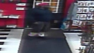 State police are looking for two men they believe robbed a Rehoboth leather store at gunpoint Saturday.