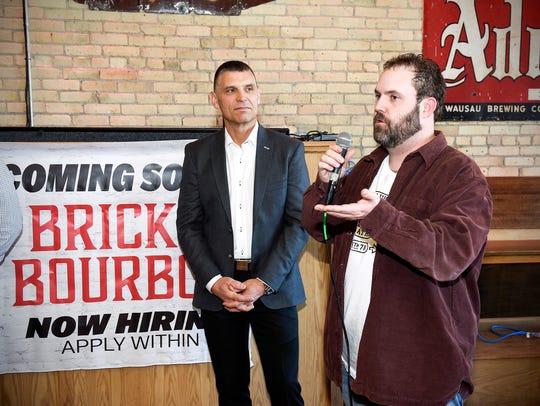 Branden Warner, co-owner of Brick & Bourbon Craft Bar