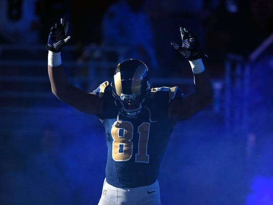 St. Louis Rams wide receiver Kenny Britt takes the