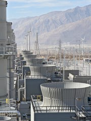 The Sentinel power plant in Desert Hot Springs, which provides power during peak demand times, runs on natural gas.