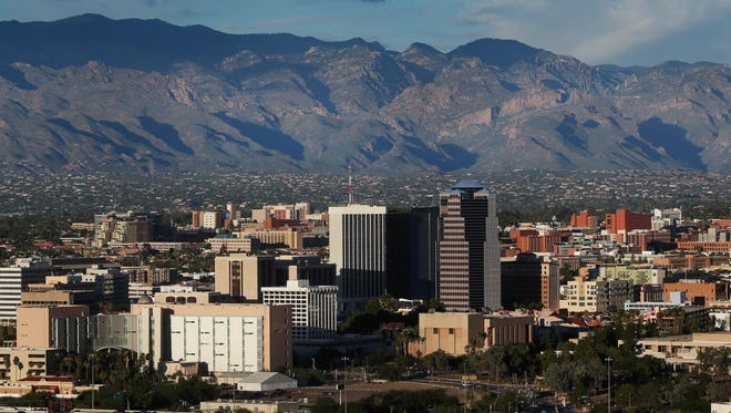 The Tucson skyline beckons visitors looking for nightlife.