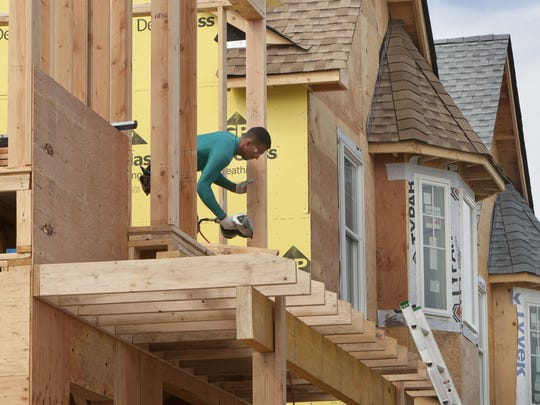 A new home under construction in Seaside Heights last year. New Jersey's residential building codes and standards are among the strongest in hurricane-threatened states, according to a new report released today.