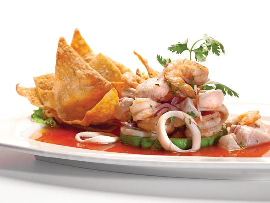The Peruvian favorite, ceviche, is made with raw fish