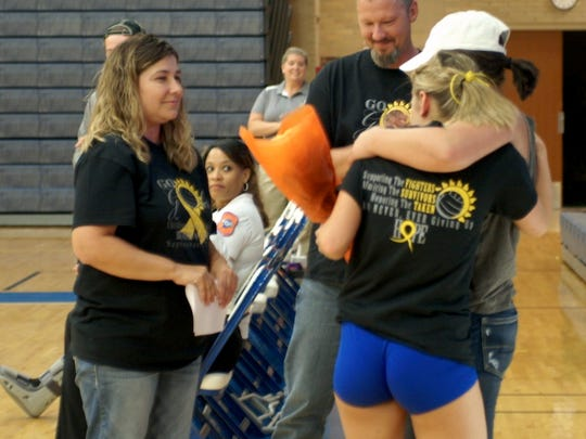 Burris hosted Childhood Cancer Awareness Night before