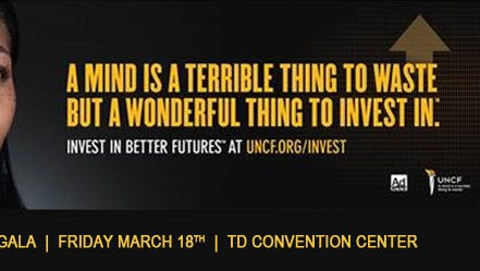 """107-3 JAMZ and UNCF Upstate's 13th Annual """"A Mind Is…"""" is Friday, March 18th at TD Convention Center."""