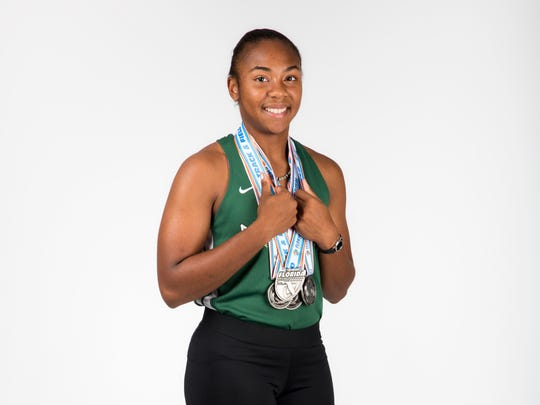 2017 Spring Player of the Year finalist Britany Leroy, St. John Neumann track