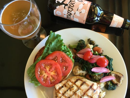 A recent lunch at the Riverview Terrace Cafe at the