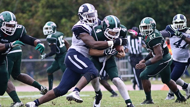 Defensive end Javancy Jones, pictured making the tackle, has been one of the spark plugs for JSU's improved defensive play recently.