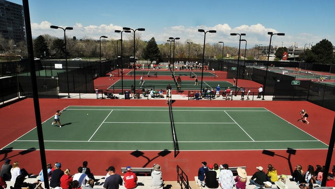 The Class 5A state tennis tournament is played at Gates Tennis Center in Denver. Gates is shown in a file photo.