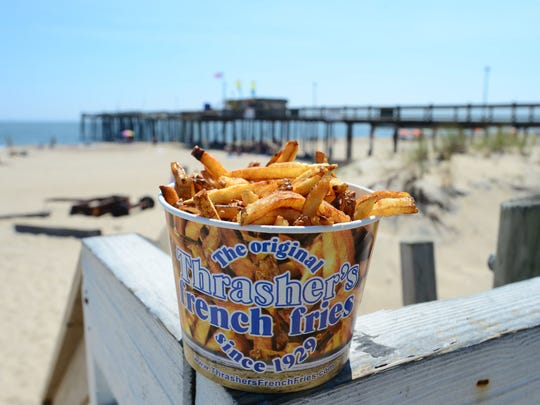 The famous Thrasher's French fries has been in business for more than 87 years. Aug. 26, 2016.