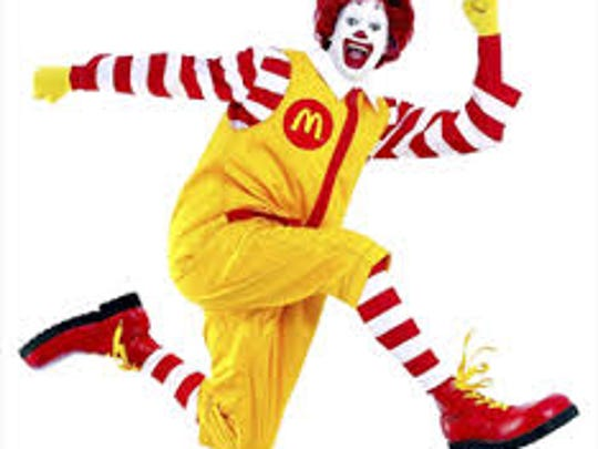 Ronald McDonald will ride a float in Saturday's Parade of Lights and then give a free magic show at McD's on Sudderth.