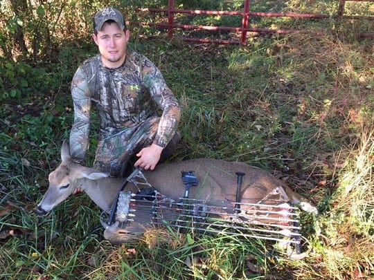 Keith Skopee, Fair Play, with a doe he shot with his
