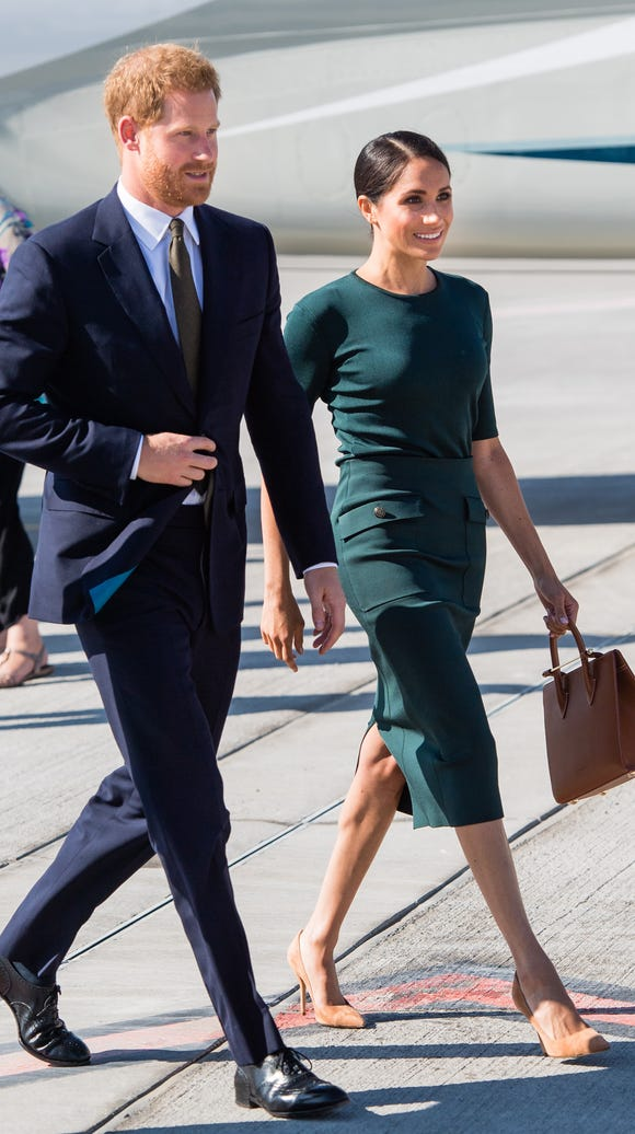 Prince Harry and Duchess Meghan arrive at Dublin Airport