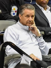 University of Kentucky head coach John Calipari takes