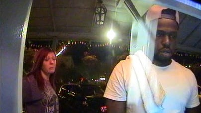 Police released security camera footage April 23, 2018, of two suspects in an ATM robbery in downtown Scottsdale.
