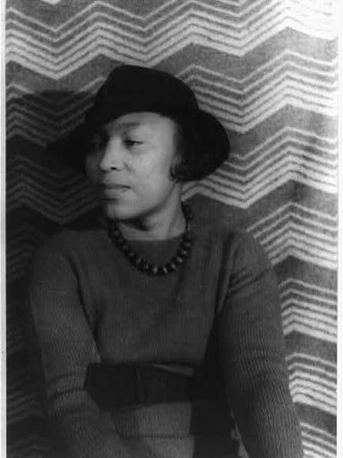 A portrait of Zora Neale Hurston.