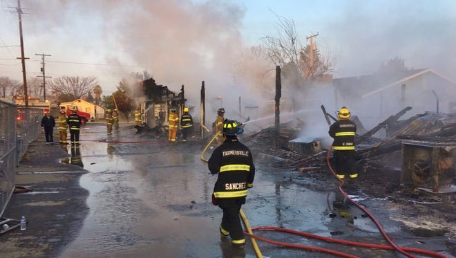 Farmersville recycling center was destroyed by flames Wednesday morning.