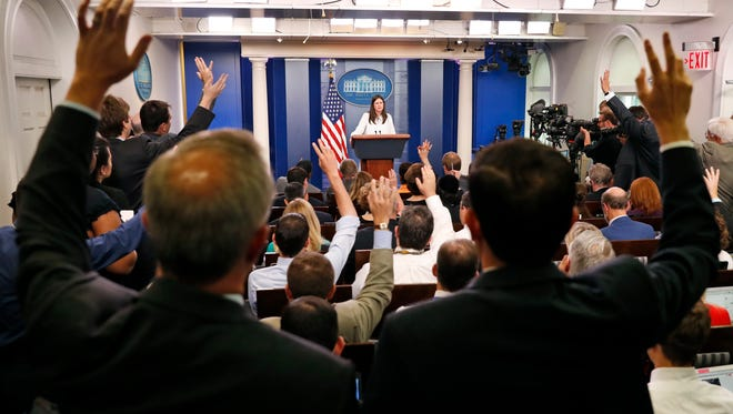 White House briefing on on July 12, 2017.