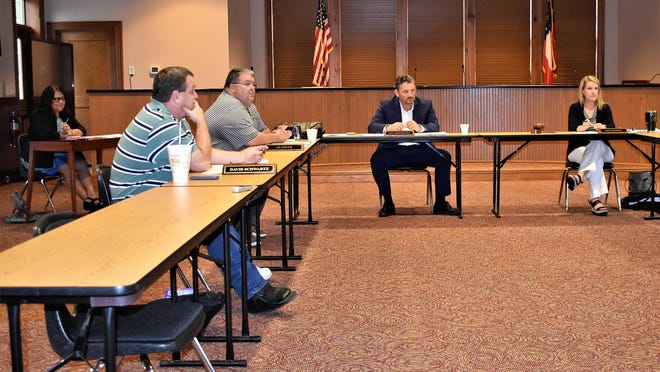 Bryan County School Superintendent Paul Brooksher told school board members that plans were progressing for opening school on time, although contingency plans were also being prepared if school openings are unable to progress as planned.