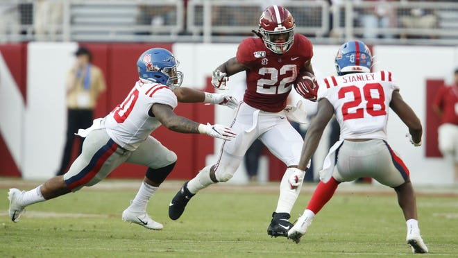 Najee Harris could become Alabama's career rushing leader in the 2020 season.