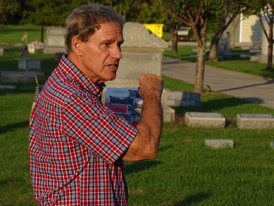 Michaels, Cahill lead tour of McPherson Cemetery