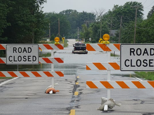 High water, flooding force Sandusky County road closures