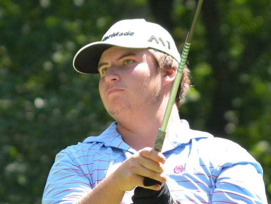 Brendan Hansen, the second-round leader at the NJSGA