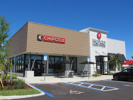 Chipotle Mexican Grill launches this week in a multitenant building it shares in Restaurant Row with Pei Wei Asian Diner, which is targeted to open the day after Easter.