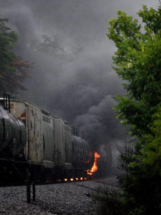 Toxic CSX train