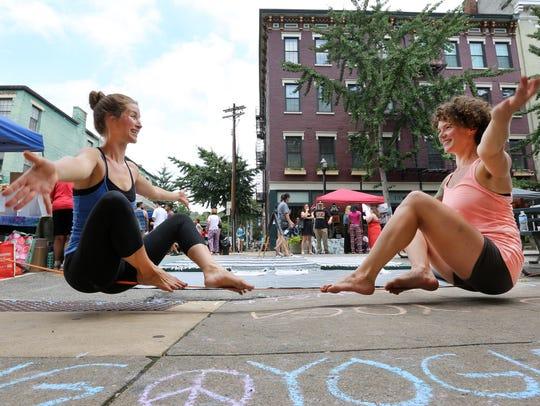 Amanda Bloomquist, left, and Nicole Klosterman, both