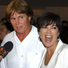 Bruce and Kris Jenner attend a pre-party for the 10th Annual ESPY Awards on July 9, 2002, in West Hollywood, Calif.