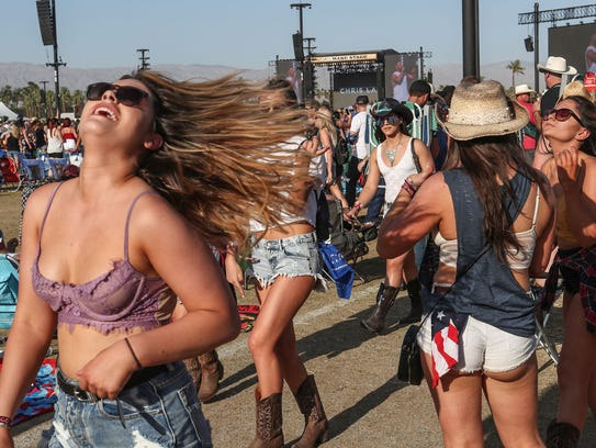 Apr 27, 2018; Indio, CA, USA; Fans at the Stagecoach