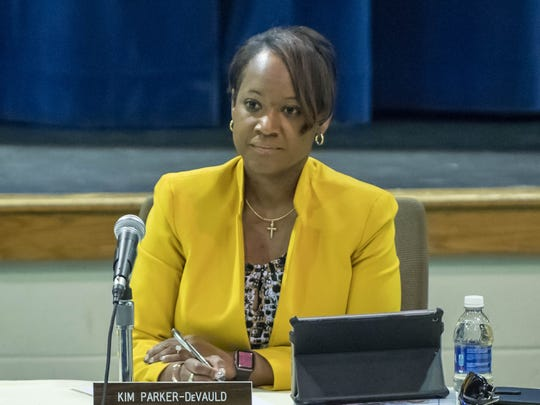 Battle Creek Public Schools Superintendent Kim Parker-DeVauld talked about several district restructuring proposals at the high school and elementary levels Thursday.