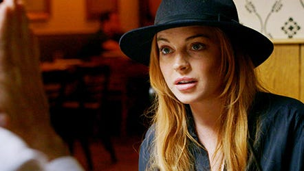 Lindsay Lohan during episode 2 of OWN's docu-series, 'Lindsay.'