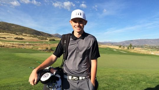 Pine View's Noah Schone is one of five golfers from Southern Utah competing in the Utah State Junior Amateur this week up in Ogden.