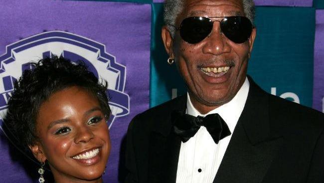 E'Dena Hines and Morgan Freeman