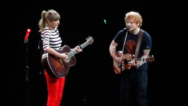 Taylor and Ed on the Red Tour