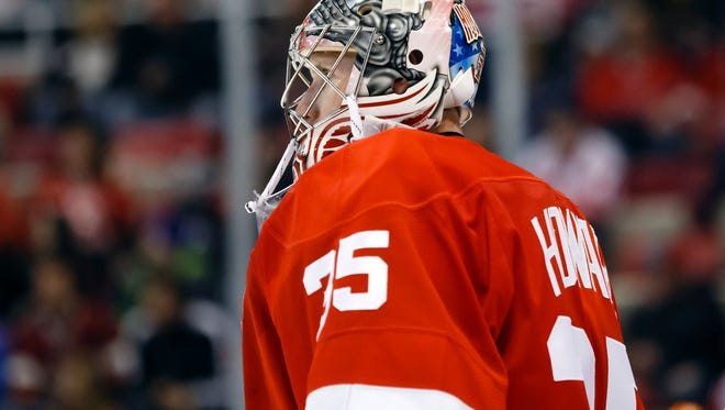 Detroit Red Wings goalie Jimmy Howard is ready to return from a knee injury.