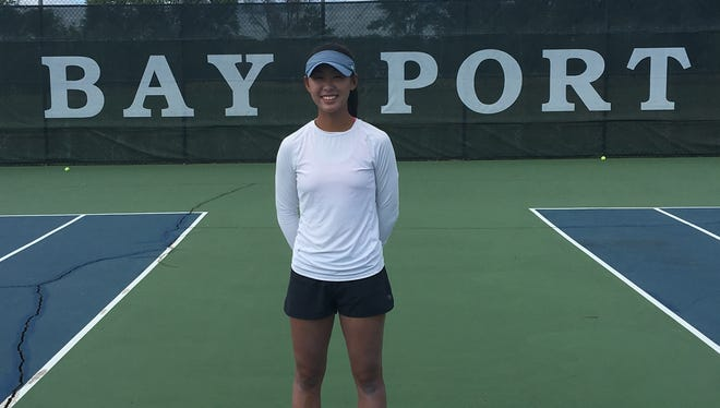Bay Port freshman Isabelle Lee has started out her high school tennis career 14-1.
