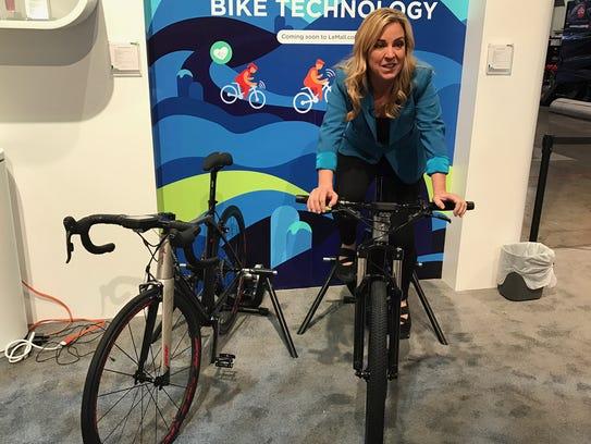 LeEco's smart bikes.