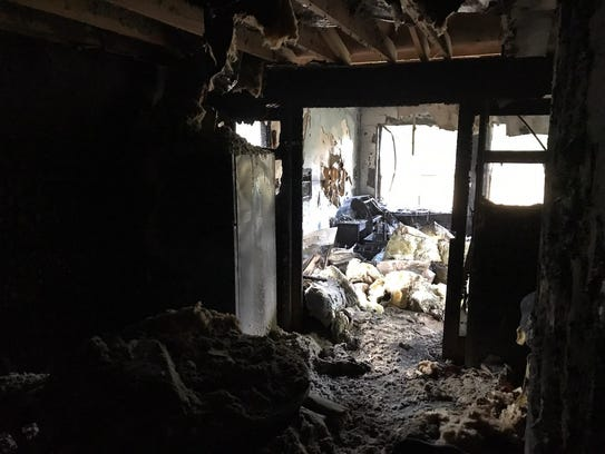 A fire Sunday morning, started by an improperly extinguished